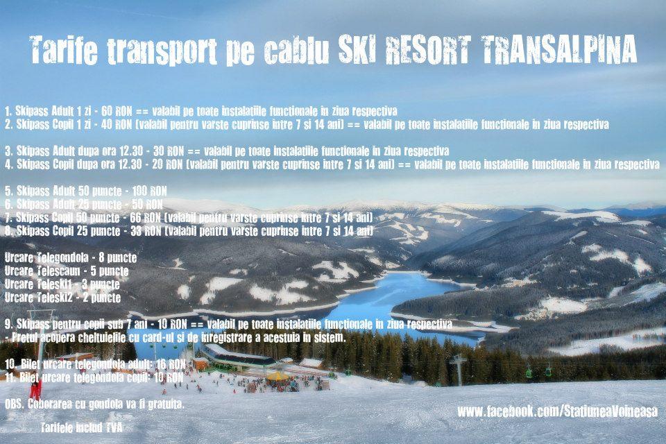 Preturi partie Transalpina Ski Resort - Vidra-Voineasa