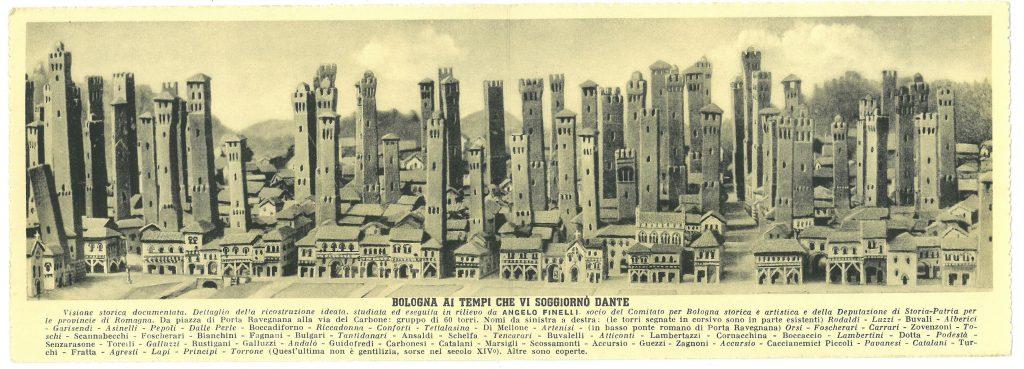 turnurile din Bologna, pe timpul lui Dante. bologna parma lugo obiective turistice mancaruri traditionale italia