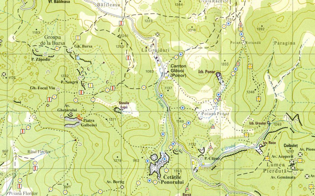 Download Harta trasee turistice din Parcul Natural Apuseni. Download Harta turistica zona Padis. Download Harta turistica Muntii Apuseni - zona Padis. Harta Parcul Natural Apuseni - zona Padis - Scara 1:30000 Trasee turistice zona Padis